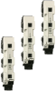 IEC Fuse Switch Disconnectors: MULTIFIX® 60 D02 Vertical Fuse Switch Disconnector 63A, 400VAC, Triple Pole Switching -- 1.001.043