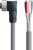 LAPP UNITRONIC® Devicenet™ Thick Single-Ended Cordset - 5 positions female 7/8 inch 90° to Wire Leads - Continuous Flex - Gray PVC - 10m -- OLFDN4110004F10 -Image