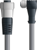 LAPP UNITRONIC® Devicenet™ Thin Extension Cordset - 5 positions female 7/8 inch straight to 5 positions female M12 90° - Continuous Flex - Gray PVC - 1m -- OLFDN4110068F01 -Image