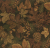 Fall Leaves And Pinecones Tapestry Fabric -- R8957 -- View Larger Image