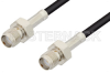 SMA Female to SMA Female Cable 12 Inch Length Using LMR-100 Coax -- PE3C0045-12 -Image