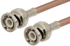 BNC Male to BNC Male Cable 12 Inch Length Using RG142 Coax -- PE3495-12 -Image