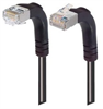 Category 5E Shielded Right Angle Patch Cable, Down/Right Angle Up, Black 7.0 ft -- TRD815SRA4BLK-7 -Image