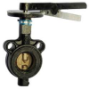 Butterfly Valve,Wafer,Pipe Size 5 In -- 5MPF0