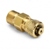 6 mm tube fitting x male Quick-test, no check-valve, brass -- QTHA-MTB0-6mm