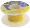 Wire; 100ft 26AWG silver plated copper;yellow Kynar insulated; low strip force -- 70176441