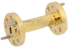 WR-15 45 Degree Waveguide Right-hand Twist Using a UG-385/U Flange And a 50 GHz to 75 GHz Frequency Range -- SMW15TW1003 - Image