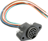 Panel Mount Receptacle DIN Mini Circular Connector -- MD-80PL100