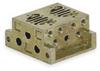 Manifold Block,2 Stations,10-32 UNF-B -- 3JCJ8