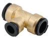 Quick-Connect Reducing Tee - Lead Free Brass -- LF4724R - Image