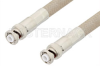 MHV Male to MHV Male Cable 60 Inch Length Using RG225 Coax , LF Solder -- PE34423LF-60 -Image