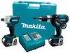 Makita LXT218 Combo Kit 2 tools 18v Hammer Drill & Impact -- COMBO18VLXT218