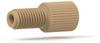 Flangeless Male Nut Polypropylene, 1/4-28 Flat-Bottom, for 1/16