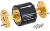 WR-22 Waveguide Isolator with 25 dB min Isolation from 33 GHz to 50 GHz using Round Cover UG-383/U Flange -- FMWIR1004