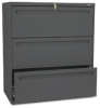 Three-Drawer Lateral File, 36w x 19-1/4d, Charcoal -- HON783LS
