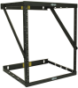 SmartRack 8U/12U/22U Expandable Very Low-Profile Patch-Depth Wall-Mount 2-Post Open-Frame Rack -- SRWO8U22MD