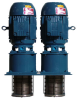 HIGH PRESSURE CENTRIFUGAL INDUSTRIAL PUMPS -- INDUSTRIAL VERTICAL AND HORIZONTAL MULTI-STAGE COOLANT PUMPS -- View Larger Image