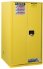 Hazardous Liquid Safety Storage Manual Close Cabinet -- CAB25860-YELLOW