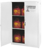 Flammable Liquid Manual Close Safety Storage Cabinet -- CAB117-WHITE