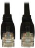 Augmented Cat6 (Cat6a) Snagless 10G Certified Patch Cable, (RJ45 M/M) - Black, 3-ft. -- N261-003-BK - Image