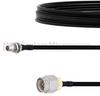 Slide-On BMA Plug Bulkhead to SMA Male Cable FM-SR141TBJ Coax in 6 Inch -- FMCA1619-6 -Image