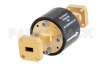 WR-28 Waveguide Isolator from 26.5 GHz to 40 GHz, 25 dB min Isolation, UG-599/U Square Cover Flange -- PEWIR1005 -Image