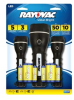 Rayovac Value Bright LED 2AA & 2D Robust Rubberized 3 Pack -- BRSLED3PK-BTPA