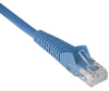 Cat6 Gigabit Snagless Molded Patch Cable (RJ45 M/M) - Blue, 12-ft. -- N201-012-BL