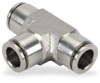 Push-to-Connect Air Fitting: tee, SS, for 10mm tubing -- UT10M-SS