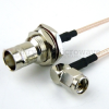 RA SMA Male to BNC Female Bulkhead Cable RG316 Coax in 36 Inch -- FMC0438316-36 -Image