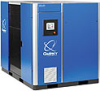 Lubricated Rotary Screw Air Compressor -- QGV