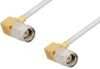 SMA Male Right Angle to SMA Male Right Angle Cable 6 Inch Length Using PE-SR405AL Coax -- PE34213LF-6 -Image