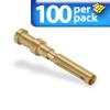 CRIMP 10AMP FEMALE 100/PK 14AWG GOLD- PLATED FOR 10AMP FEMALE INSERTS -- ZP-MC-CC-F10A-14G