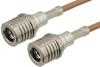 QMA Male to QMA Male Cable 12 Inch Length Using RG316 Coax -- PE38270-12 -Image