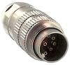 Connector, Circular; 8; 0.75; 5 A; 60 VAC; 10^12 Ohms; 3 pF (Approx.); -40 degC -- 70151648 - Image