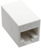 Cat6 Straight-Through Modular Compact In-Line Coupler (RJ45 F/F), White, TAA -- N234-001-WH - Image
