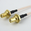 SMA Female Bulkhead to SMA Female Bulkhead Cable RG-316 Coax in 48 Inch -- FMC1212315-48 -Image