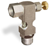"(Formerly B1630-9X00), Inverted Angle Small Sight Feed Valve, 1/4"" Female NPT Inlet, 1/4"" Male NPT Outlet, Handwheel -- B1628-334B1HW -Image"