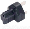 3 Prong Plug Adaptor. NEMA 5-15R Receptacle to BS1363 -- YL-6015 - Image