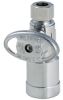 KwikStop Straight Quarter-Turn Water Supply Stop with Quick-Connect Technology -- QC894S