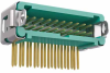 10+10 Pos. Male DIL Horizontal Throughboard Conn. Latches (T+R) -- G125-MH12005L3R -- View Larger Image
