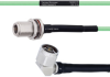 Temperature Conditioned Low Loss N Female Bulkhead to RA N Male Cable LL142 Coax in 100 cm -- FMHR0178-100CM -Image