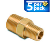Connector Air Fitting: male, brass, for 3/8in NPT to 1/4n NPT, 5/pk -- BFMC-38N-14N -- View Larger Image