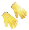 Yellow Cow Hide Rigger Gloves -- Yellow Cow Hide Rigger Gloves