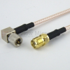 SMA Female (Jack) to RA 10-32 Male (Plug) Cable M17/113-RG316 Coax Up To 2 GHz in 60 Inch -- FMC1314316-60 -Image