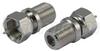 75 Ohm Coaxial Adapter, F Male / F Female -- AXA-FMFF - Image