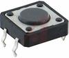 Switch, Sub-Mini Tactile, 160 OperatingForce, 0.169 Height, 50MA@12VDC, 12x12MM -- 70128183
