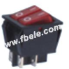 Double-poles Rocker Switch -- RS-2101-1A ON-OFF