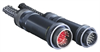 Cylindrical, Metal, Complete Coupling in One Turn, Harsh Environment, Power and Signal Connector -- Star-Line™