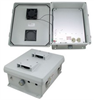 12x10x5 Inch 120 VAC Weatherproof Enclosure with 85° Turn-on Cooling Fan -- NB121005-10F-1 -Image
